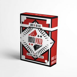 Poker cards from 100% Plastic, waterproof, ruby deck, red back