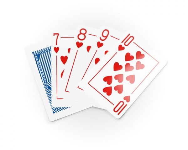 Poker playing cards, deck with blue back SAPPHIRE, 100% Plastic, waterproof