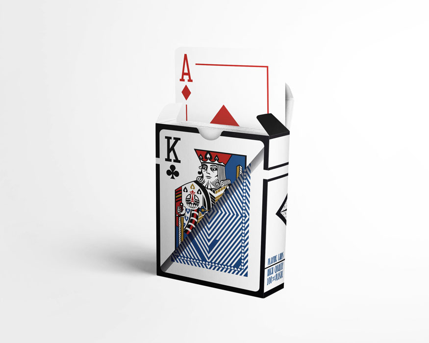 Sapphire deck - playing cards made of 100% Plastic, waterproof